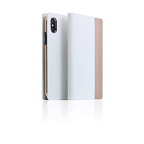 [SLG DESIGN] D5 Calf Skin Leather Metal Case for iPhone X/XS I Signature Leather with Metal Flip Folio Book Case Wallet Cover with Feature Card Slots Compatible with iPhone X/XS -