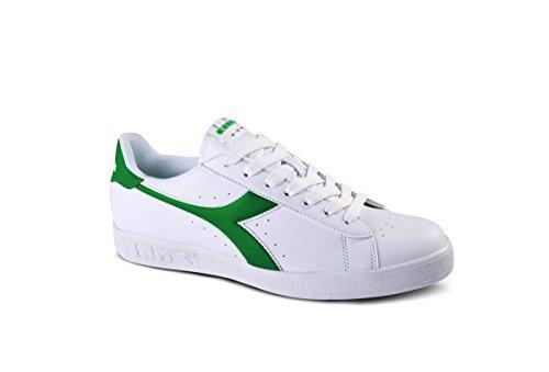 Diadora Unisex-Erwachsene Game P Sneaker Low Hals, Weiß, 38 EU bianco-verde