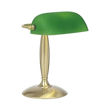 Bankers style desk lamp with green glass shade amazon bankers style desk lamp with green glass shade aloadofball Choice Image