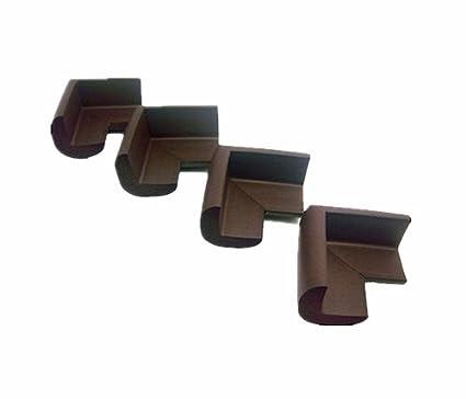 Viskey 4pcs/Set Baby Safety Rubber Foam Furniture Corners Guards Protector Brown 1set