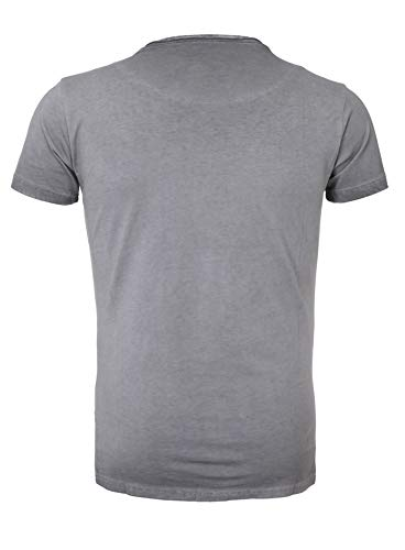 gris Akito Tanaka lavado aceite camiseta HTwngqI1