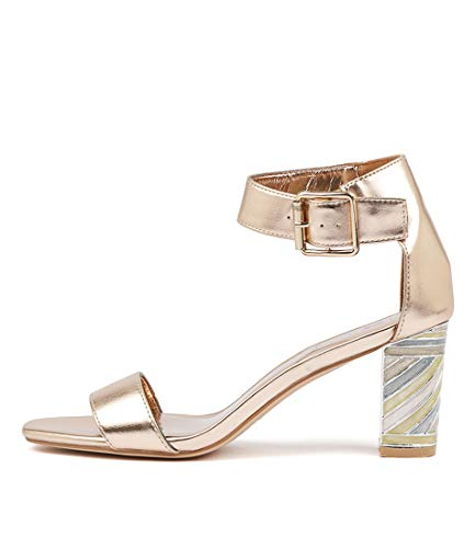 I LOVE BILLY NILLA Womens Shoes Ankle Strap Heels ROSE GOLD SMOOTH
