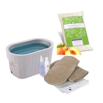 Therabath Pro Warmer With 6-pounds Peach-e Paraffin And Manicure Kit