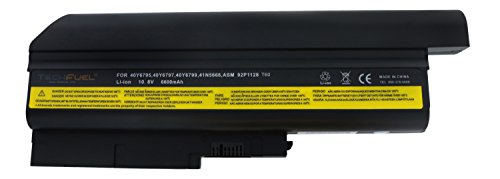 tery for Lenovo ThinkPad T500 R500 W500 R60 R61i T60 T61 (Std Screen) Laptops - Professional 9-cell, 72Wh 10.8V Li-ion Battery ()