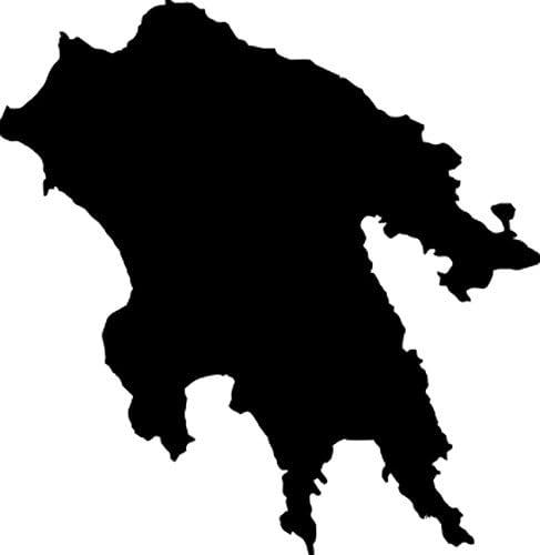 2x Auto Aufkleber Car Sticker Peloponnes Griechenland Insel Ca 11 X 11 Cm Schwarz Küche Haushalt