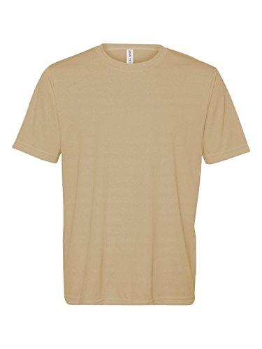 Alo Sport Unisex Performance Short Sleeve T Shirt   Sport Vegas Gold   M