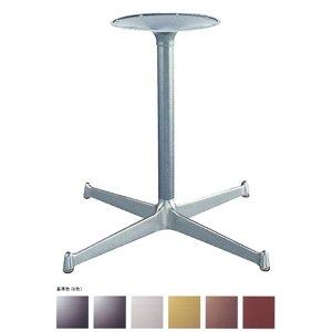 e-kanamono テーブル脚 YB2800 ベース575x575 パイプ42.7φ 受座280φ アルミシルバー/塗装パイプ AJ付 高さ700mmまで 黒メラ焼塗装 B012CF4D62 黒メラ焼塗装 黒メラ焼塗装