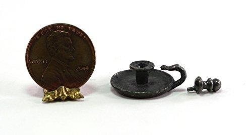 (Phoenix Models Dollhouse Miniature Pewter Chamber Stick w/Snuffer)