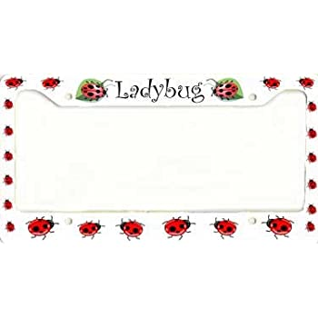 Amazon.com: LADYBUG LADYBUGS Chrome Heavy Duty Metal License Plate ...