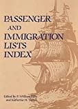 Passenger and Immigration Lists Index, , 0787637211