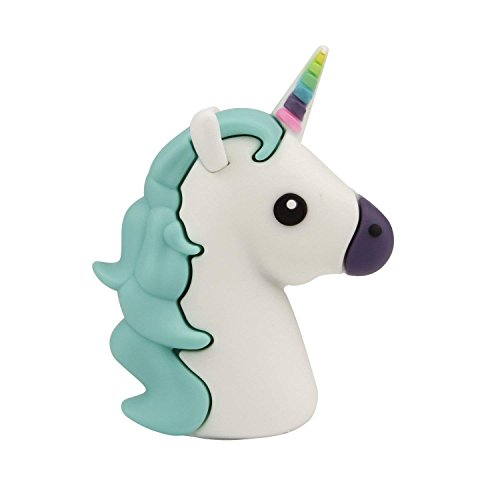 Shop Deals Lightweight Mini Unicorn Power Bank Portable Charger 2600mah External Charger Cartoon Portable Backup Pack Compatible with iPhone Smart Phone Tablets (Mini Green Unicorn)