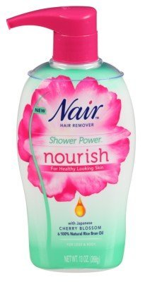 Nair Hair Remover Shower Power Nourish Pump 13 Ounce Legs/Body (384ml) (2 Pack)