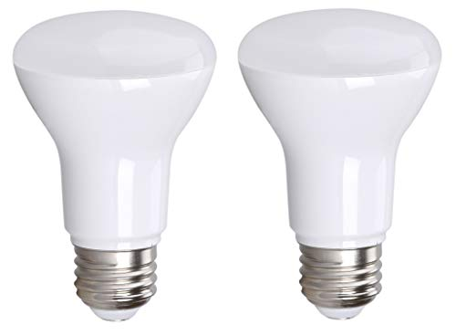(2 Pack Bioluz LED Br20 LED Bulb Dimmable 7w (50w Replacement) 2700K Bright Warm White 550 Lumen Smooth Dimmable Lamp - Indoor/Outdoor UL Listed (Pack of 2))
