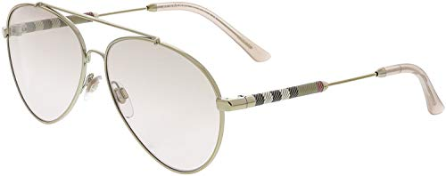 Burberry Women's BE3092Q Sunglasses Light Gold/Brown Mirror Gradient Gold ()