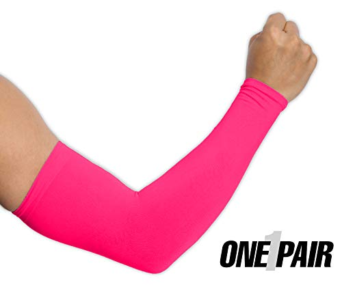 UV Protection Cooling Arm Sleeves - UPF 50 Long Sun Sleeves for Men    Women. Perfect for Cycling 38f8a9fa7