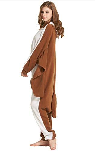 Unisex Animal Pijama Ropa de Dormir Cosplay Kigurumi Onesie Marrón Ardilla Voladora Disfraz para Adulto Entre 1, 40 y 1, 87 m: Amazon.es: Ropa y accesorios