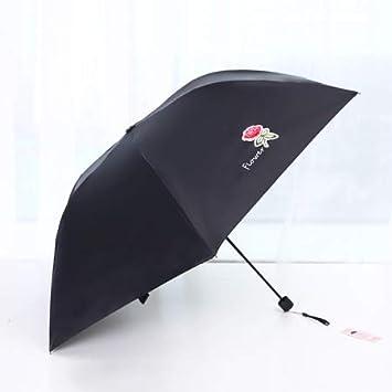 MEIDI Home Parapluie Pliant Protection UV (Color : Black)