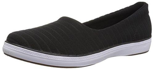Grasshoppers WoMen Lacuna Stretch Stripe Sneaker Black