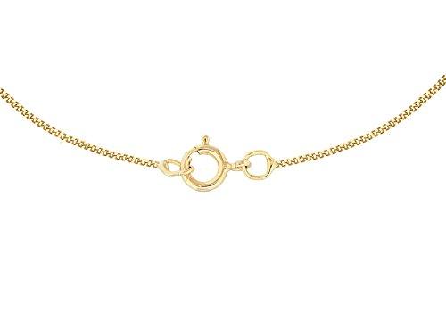 Carissima Gold - Collier avec pendentif - (375/1000) - Or bicolore - Rond - Blanc - Oxyde de Zirconium - Femme -45.72 centimeters