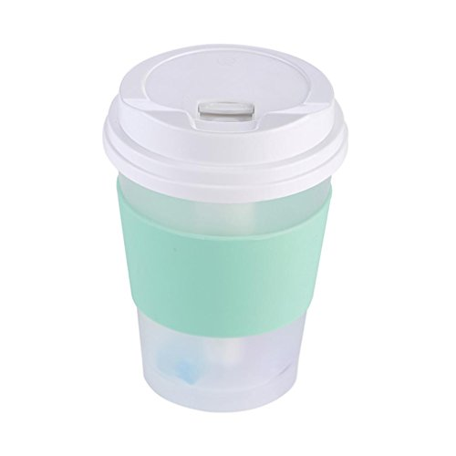 Coerni 300ml Cute Milk Cups USB LED Glowing Humidifier Essential Oil Diffuser for Car, Office, Home (Green) by Coerni (Image #8)