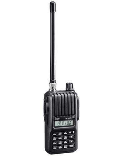 Icom Original IC-V80 HD 144 MHz Handheld Transceiver, 5.5 Watts, Comes with Li-ion 1900mAh Battery (BP-265), Rapid Charger (BC193/BC123SA), (Antenna (BNC) and Belt Clip