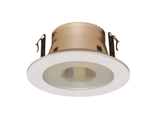 Trim Light Shower Recessed Lens (4 Inches Semi-frosted Lens Shower Trim for Line Voltage Recessed Light/lighting-white Fit Halo/juno)