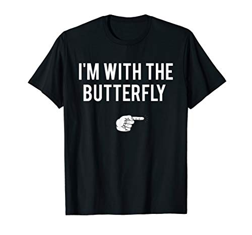 I'm With Butterfly Halloween Costume Party Matching T-Shirt