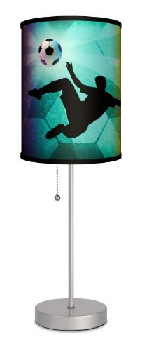 Sports - Soccer Kick Sport Silver Lamp by Lamp-In-A-Box by Lamp-In-A-Box