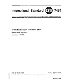ISO 7434:1983, Slotted set screws with cone point