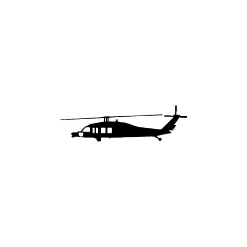 Mini Blackhawk MH-60/UH-60 Helicopter Decal in Black