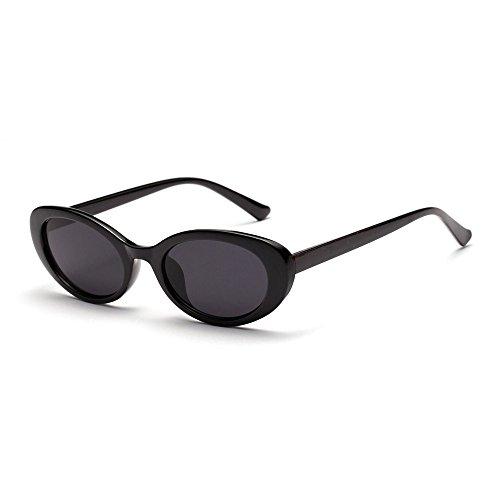 TL Oval Sol UV400 Pequeños Mujer Oval Gafas Sol de de Gafas Atrás Retro Sunglasses para Accesorios Verano Negro Hombres rwq06xPUr