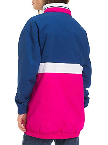 Jeans Woman Rosso Tommy Pink Colorblock Kangaroo 70pxwqF
