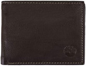 Timberland Men's Wellington RFID Leather Bifold Wallet Trifold Wallet Hybrid
