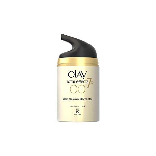 オーレイ合計効果はのクリーム細孔 - 培地(50)中 x2 - Olay Total Effects Pore Minimiser Cc Cream - Medium (50ml) (Pack of 2) [並行輸入品] B071H9Q715