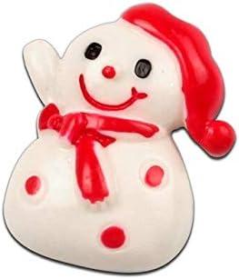 KABITA115-10Pcs Mixed Resin Christmas Snowman Decoration Crafts Flatback Cabochon Embellishments For Scrapbooking Beads Diy Accessories - H2734