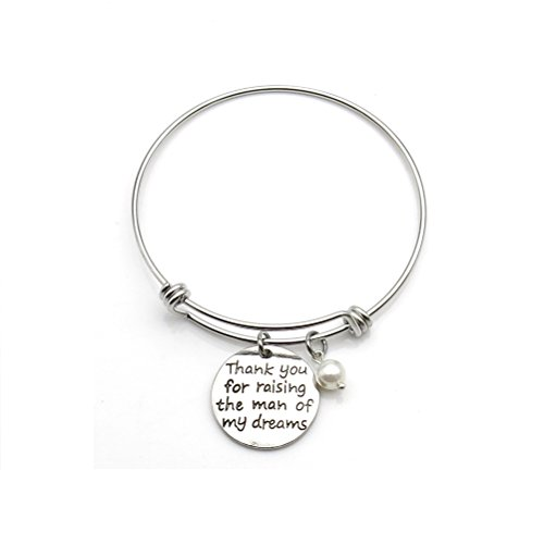 Thank You For Raising The Man Of My Dreams Expandable Bangle Bracelets Mother in Law Gift