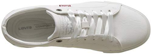 Levi's 51 W Baskets Woods White Femme Blanc Noir Regular FrqFw1x8
