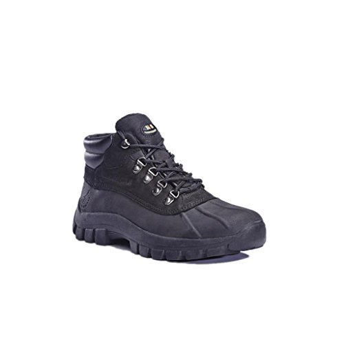 Kingshow - Mens Warm Waterproof Winter Leather High Height Snow Boot