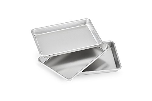 Artisan Professional Toaster Oven 1/8-Size Aluminum Baking Pan Set, 9.5 x 6.5-inches, 3-Pack