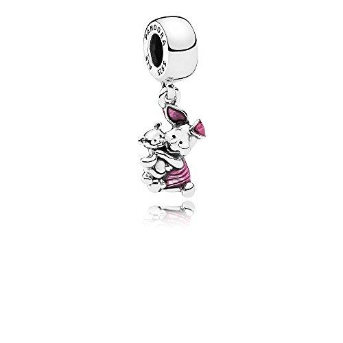 - Pandora Sterling Silver Disney's Piglet Dangle Charm 792134EN117