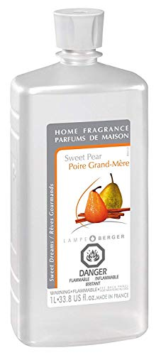Sweet Pear | Lampe Berger Fragrance Refill for Home Fragrance Oil Diffuser | Purifying and perfuming Your Home | 33.8 Fluid Ounces - 1 Liter | Made in France