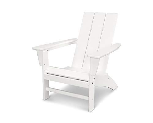 POLYWOOD AD420WH Modern Adirondack Chair, White (Resin Polyethylene High Density)