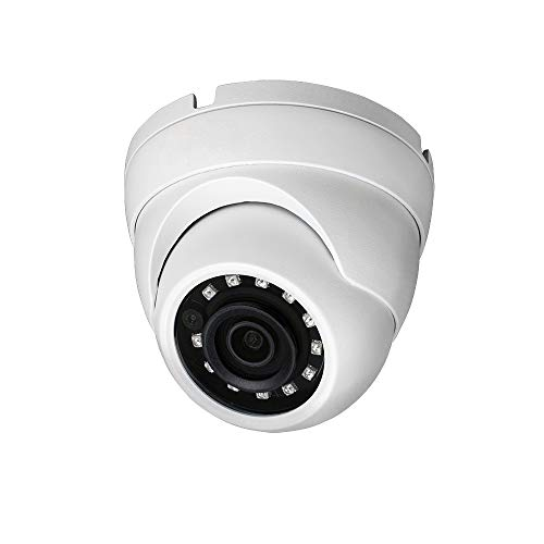 Tech Analog - R-Tech 1080p 4-in-1 AHD/CVI/TVI/Analog Outdoor Dome Security Camera SMD High-Intensity IR LEDs for Night Vision - 2.8mm Fixed Lens (White)