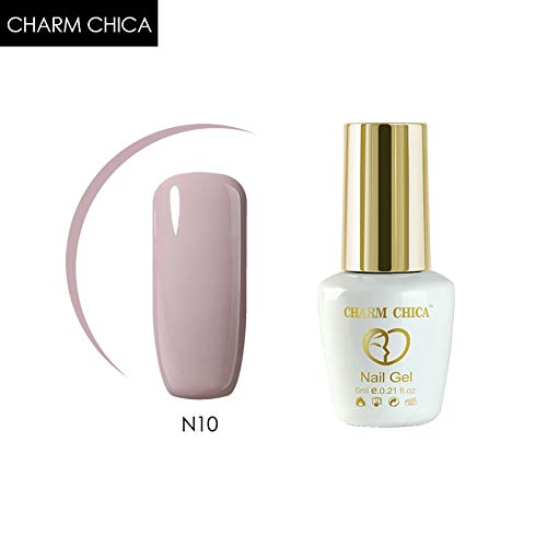 N10 Series - HITSAN INCORPORATION Charm Chica 6ml Gel Polish uv Gel soak Off Pink Nude Series red Semi Permanent Gel Nail Polish Hot Sale Nail Art 137521 Color N10
