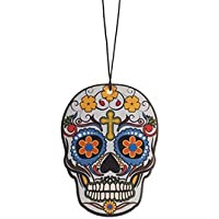 Day of the Dead Car Air Freshener, Day of Night Scent, Candy Skull (DD2D4)