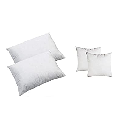 Christy's Collection Polyester 4 Piece Filler Set, White Cushions at amazon