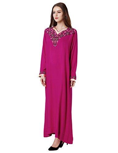 Donne Rose Vestito 1626 Abaya Islamico Raion Musulmano n14vpS