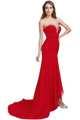 lungo Sunvary Chiffon una Fashion Sweetheart abiti sera da Red linea wrxqXpr