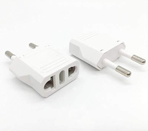Unidapt European Plug Adapter high quality Power Converter Usa Us to EU Europe (2 piece)
