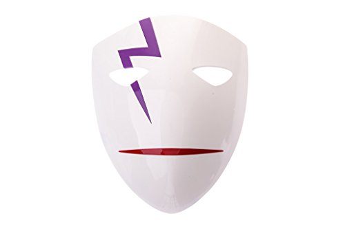 Darker Than Black Costume Mask (Mtxc DARKER THAN BLACK Cosplay Hei Li Shenshun Cry Mask 4th White)